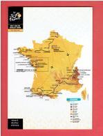 CYCLISME LE TOUR DE FRANCE 2018 CARTE EN TRES BON ETAT - Cyclisme