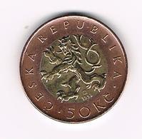 &-   TSJECHIE  50 KORUN  1993 - Tchéquie
