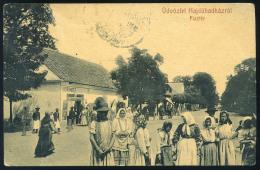 HAJDÚHADHÁZ  1910. Piactér, Horovitz Kereskedésével , Régiképeslap  /  HAJDÚHADHÁZ 1910 Market Sq Vintage Picture Postca - Hungary