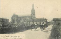 33 ST-LOUIS-DE-MONTFERRAND EGLISE ET ROUTE DU BEC D'AMBES - VACHES - France