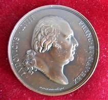 FRANCE- 1815-1824- RENCONTRE DE LOUIS XVIII ET LE PAPE- GRAND  BRONZE Par DESBOEUSF & ANDRIEU - Royal / Of Nobility