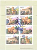 2018. Tajikistan, WWF, Red Cat, Sheetlet With Blue OP, Mint/** - Tajikistan