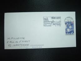LETTRE TP CROIX-ROUGE 0,30+0,10 OBL.MEC.5-7 1972 79 THOUARS DEUX SEVRES Cité Médiévale - 1961-....