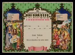Christmas Noel Dogs Chiens Castles Donkes Kings Presepe Telegram Télégramme Entier Postal Stationery Portugal #9746 - Noël