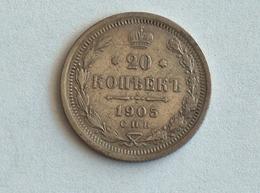 RUSSIE 20 KOPEKS 1905 AP Kopecks Argent Silver Russia - Russie