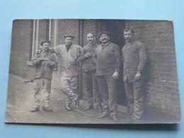 ARBEIDERS In Werkkledij / Plunje ( Fotokaart ) From Liège > Herne Allemagne > 1912 ( Zie Foto Details ) ! - Photographs