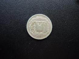 RÉPUBLIQUE DOMINICAINE : 10 CENTAVOS  1975    KM 19a    TTB - Dominicana
