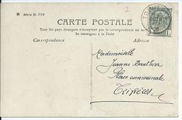 Fantasiekaart Met OCB 53 - Afstempeling TRIVIERES - COBA 15 - 1893-1907 Wapenschild