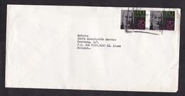 Colombia: Cover To Netherlands, 1987, 2 Stamps, Bach, Music Componer, Rare Real Use (minor Damage, See Scan) - Colombia