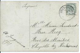 Fantasiekaart Met OCB 81 - Afstempeling BELLECOURT- COBA 30 - 1893-1907 Armoiries