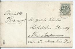 Fantasiekaart Met OCB 81 - Afstempeling BETECOM Type 2L- COBA 15 - 1893-1907 Wapenschild
