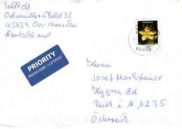 Auslands - Brief Von 45772 Marl - Hüls Mit 90 Cent Blumen Johanniskraut 2018 - BRD
