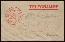 4935 Lettre Cover France Guerre Maroc War Région De Marrakech Télégramme 1914 - 1. Weltkrieg 1914-1918