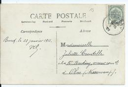 Fantasiekaart Met OCB 81 - Afstempeling TAVIGNY - COBA 25 - 1893-1907 Armoiries