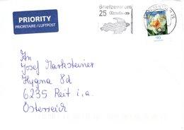 Auslands - Brief Von Briefzentrum 25 Mit 90 Cent Blumen + Werbestempel Briefzentrum Elmshorn 2018 - BRD