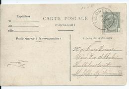 Zichtkaart Tieghem Met OCB 81 - Afstempeling TIEGHEM - COBA 15 - 1893-1907 Wapenschild