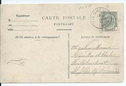 Zichtkaart Tieghem Met OCB 81 - Afstempeling TIEGHEM - COBA 15 - 1893-1907 Armoiries