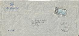 Bahamas Air Mail Cover Sent To USA Nassau 6-11-1962 Single Stamp - 1859-1963 Colonia Britannica