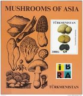 Turkmenistan 2000  Mushrooms Funghi Champignons Sheet Nuovo MNH Lycoperdon  Perlatum - Funghi