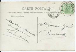 Fantasiekaart Met OCB 83 - Afstempeling MONTENAEKEN - COBA 25 - 1893-1907 Armoiries
