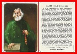 CHROMOS. Beurre PREVAL. Marco POLO.  Marin Et Explorateur Italien...F822 - Cromo