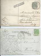 2 Fantasiekaarten Met Lijnstempel HENRI CHAPELLE Verstuurd Via VERVIERS(OUEST) Of VERVIERS 2 - 1893-1907 Wapenschild