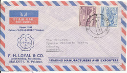 Pakistan Air Mail Cover Sent To Dennmark 14-11-1970 - Pakistan