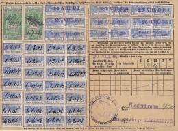 Fiscaux, Timbres Socio Postaux Alsace Sur Carte  .. Periode Allemande D'annexion .. 08 / 1903 .. Cote Timbres 53 Euro - Fiscaux
