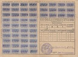 Fiscaux, Timbres Socio Postaux Alsace Sur Carte  .. Periode Allemande D'annexion ..  5 / 1912 .. Cote Timbres 10 Euro .. - Fiscaux
