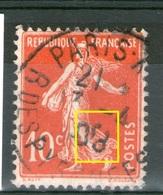 """Variété Du CaD_""""8"""" Cassé_Paris 1908 Sur N° 138°_RARE - Poststempel (Einzelmarken)"""