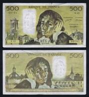 1974 Billet 500 Francs PASCAL B.5-9-1974.B. Série N.42. Numéro 00761. État : Voir Scans. Merci. - 1962-1997 ''Francs''