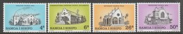SERIE NEUVE DE SAMOA - EGLISES DE SAMOA (NOËL 1979) N° Y&T 456 A 459 - Churches & Cathedrals