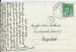 Fantasiekaart Met OCB 110 - Afstempeling WAERLOOS - COBA 50 - 1912 Pellens