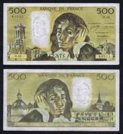 1974 Billet 500 Francs PASCAL B.5-9-1974.B. Série O.42. Numéro 85555. État : Voir Scans. Merci. - 1962-1997 ''Francs''