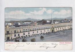 MEXICO C. PALACIO NACIONAL. JCS. CIRCULE USA. OBLIT INDIANAPOLIS 1906- BLEUP - Mexico