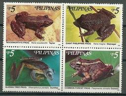 Philippines – Mi.Nr. 3054-3057 + Block 145** Frogs [1999] - Kikkers