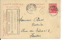 10c-postkaart - Afstempeling ASSCHE - 1919-1920 Roi Casqué