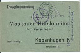Kriegsgefangenensendung Van Officiersgefangenenlager Fort Prinz Karl INGOLSTADT Naar Moskauer Hilfskomitee Te Kopenhagen - Krijgsgevangenen