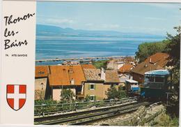 Haute Savoie : THONON  Les  BAINS  , Train  :  Vue - Thonon-les-Bains