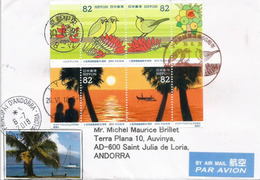 """""""The Galápagos Of The Orient"""" Ogasawara Islands,returned To Japanese Control In 1968. 50th Anniversary.Cover To Andorra - Timbres"""