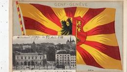 """GENEVE """"LE BATIMENT ELECTORAL ET TOURS SAINT-PIERRE (CARTE A RELIEF) - GE Ginevra"""
