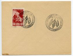 France 1946 Caen Philatelic Exhibition, D-Day Anniversary Cover - Postmark Collection (Covers)
