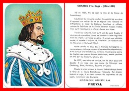 CHROMOS. Beurre PREVAL. Les Rois De France. CHARLES V Le Sage...G483 - Artis Historia