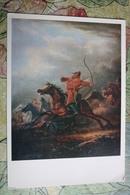 """""""Battle"""" By Orlovsky - OLD USSR Postcard - ARCHERY - Archer - Tir à L'Arc"""
