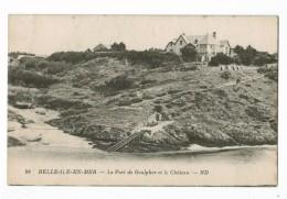 21320  CPA  BELLE ILE En MER   : Le Port De Goulphar Et Le Château !  ACHAT DIRECT !! - Belle Ile En Mer