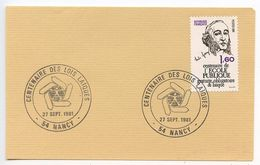 France 1981 Card, Nancy Pmks - Centenaire Des Lois Laiques - Commemorative Postmarks