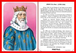 CHROMOS. Beurre PREVAL. Les Rois De France. JEAN II Le Bon...C961 - Artis Historia