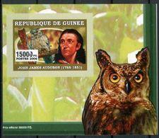 Guinée 2006 John James AUDUBON Bird Oiseau Owl Hiboux BF Luxe Imperf  Gommé MNH - Célébrités