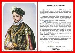 CHROMOS. Beurre PREVAL. Les Rois De France. CHARLES IX...C629 - Artis Historia