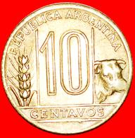 # BULL (1942-1950): ARGENTINA ★ 10 CENTAVOS 1945 MINT LUSTER! LOW START ★ NO RESERVE! - Argentine